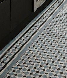 Henley™ Ice Border Tile - just border not busy middle tiles Hall Flooring, Bathroom Flooring, Kitchen Flooring, Bathroom Tray, Unique Flooring, Flooring Ideas, Bathroom Ideas, Hall Tiles, Tiled Hallway