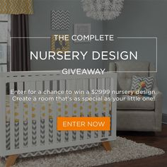 Get the nursery design of your dreams for you little one with a $2,999 giveaway via @nousdecor, @buybuybaby