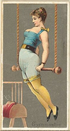 Gymnast, from the Occupations for Women series for Old Judge and Dogs Head cigarettes, 1887