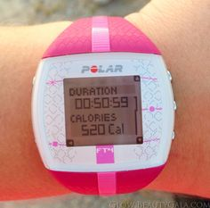 Polar FT4 Heart Rate Watch. Monitors your calories burned based on your age, height, and weight.