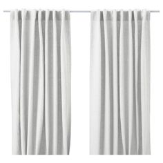 """AINA Curtains, 1 pair - IKEA, 100% Linen unlined White.  Each Panel 57x98. $59.99 per pair of panels. 98"""" will work but is 6"""" from top of ceiling in Living Area."""