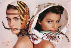 Liliane Ferrarezi and Isabeli Fontana by Richard Avedon for Hermés F/W 2004