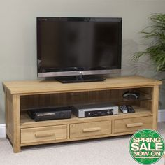 Opus Oak Plasma TV Unit