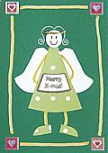 Angel Christmas card 2 - Merry X-mas!