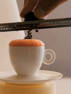 #Lobster Cappuccino. (Excerpted from On the Line by Eric Ripert. Nigel Parry and Melanie Dunea photographers.)