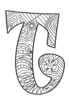 The super original mandaletras learn the alphabet - Educational Images Coloring Pages To Print, Colouring Pages, Adult Coloring Pages, Alphabet Letter Crafts, Alphabet Soup, Paisley Flower, Learning The Alphabet, Plastic Canvas Crafts, Letters And Numbers