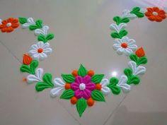 Navratri | Dussehra Rangoli | Diwali special Rangoli desion. - YouTube