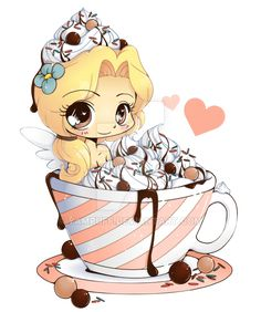 It's hot cocoa Emiko-chan! For I think she looks rather delicious! Others in this series: Hot Cocoa Emiko - Chibi Commission Manga Kawaii, Kawaii Chibi, Cute Chibi, Kawaii Art, Anime Chibi, Anime Art, Kawaii Drawings, Cute Drawings, Chibi Food