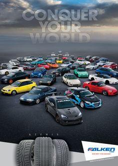 Falken Tire Honda Tuning Magazine Ad Conquer Your World