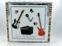 Geburtstagskarte, die schön als Gutschein für einen Konzert verwendet werden kann.