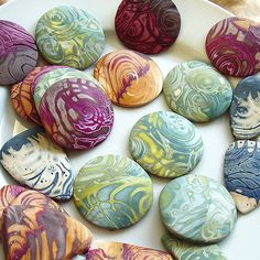 Mokume Gane Polymer Pendants | Flickr - Photo Sharing!