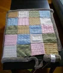 patchwork baby blanket knitting pattern - Google Search