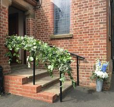 Posy barn church railing garland