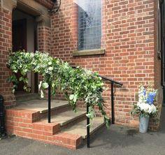 Posy barn church railing garland