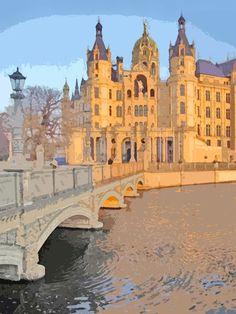 'Schweriner Märchenschloss' von Dirk h. Wendt bei artflakes.com als Poster oder Kunstdruck $18.03