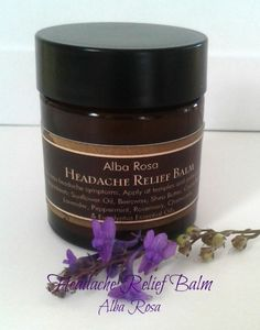 Alba Rosa Headache Relief Balm is carefully handmade with a blend of essential oils designed to soothe, calm and ease the pain of headaches. Headache Relief, The Balm, Essential Oils, Artisan, Soap, How To Apply, Skin Care, Skincare Routine