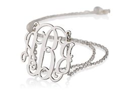 "Monogram Necklace 1""- Personalized Monogram - 925 Sterling silver. $31.95, via Etsy."
