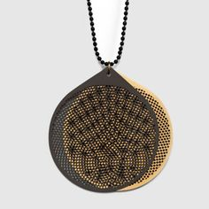 "DAVID DERKSEN-NL launches first jewellery range at Ventura Lambrate in Milan ""This series of jewelry, is a celebration of the intriguing moiré effect. By moving or rotating the black front layer, the pattern interferes with the background pattern. Rings or dots seem to appear and to move, making this into an almost hypnotic effect. This jewelry invites you to play and become fascinated by the moiré principle."""