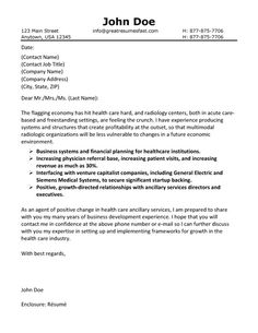 Nice Health Care Cover Letter Example