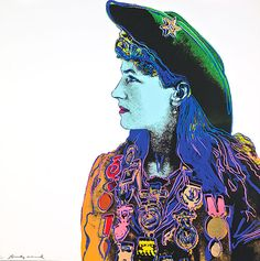 Andy Warhol Annie Oakley, 1986  unique trial-proof hand-signed screenprint