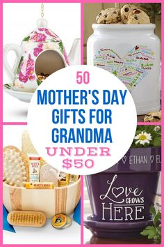 Looking for Mother's Day gifts for Grandma under $50? Check out our top 50 gift ideas under $50. Make Mother's Day 2018 memorable without spending a fortune! Thrill Grandma with an inexpensive  gift she'll love. #mothersdaygift #mothersday #grandma #giftsforher #gifts First Mothers Day Gifts, Mothers Day 2018, Top Gifts, Best Gifts, Gift Suggestions, Gift Ideas, Decor Ideas, Gifts For Older Women, Perfect Mother's Day Gift