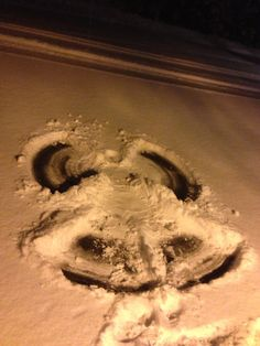 My midnight snow angel Telluride CO