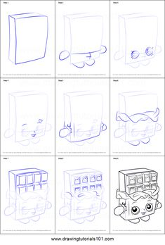 how to draw chocolate bar step by step