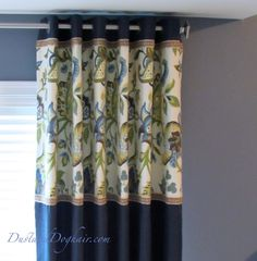 DIY Banded Panels, bedroom windows, blackout curtains