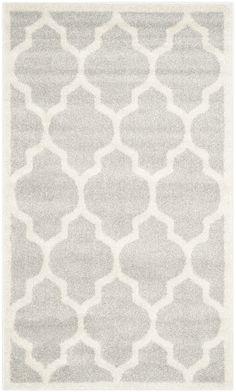 Safavieh Amherst Indoor/Outdoor Rug, Light Grey/Beige