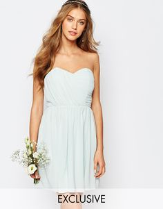 TFNC WEDDING Bandeau Chiffon Mini Dress $65.01