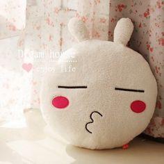 Lovely Cartoon Tuzki Pillow Cushion Toy Cream