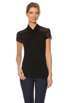 Shirt with short sleeves and a knot at the décolleté Must Haves, Peplum, Short Sleeves, V Neck, Celebrities, Knot, March, Shopping, Tops