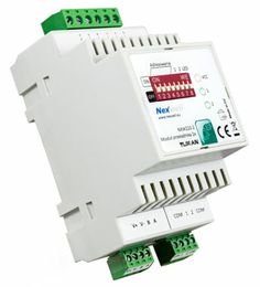 NXW223.2 - RELAY CONTROLLER 2X TUKAN DIN - Universal on/off relay controller, mode NC or NO.