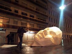 Geometric Public Space Sculptures by David Mesguich