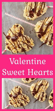 Valentine Sweet Hearts are a tasty little treat made with JOLLY TIME popcorn. These sweet marshmallow popcorn treats and cut into hearts for a fun Valentine's Day treat idea. Make these with your kids in the kitchen for a fun gift for neighbors and friends this Valentine's Day! || www.cookingwithruthie.com #valentinesday #valentinedessert