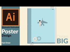 How to Design a Minimalist and Meaningful Motivation poster in adobe illustrator - YouTube