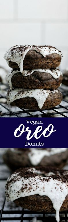 Vegan Oreo Donuts. Can life get any better?
