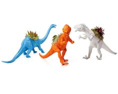Look what I found at UncommonGoods: neon dinosaur planters...