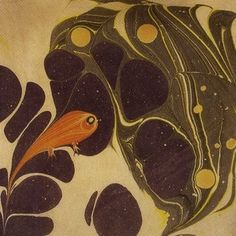 Fish marbled paper by Koloman Moser c. 1904