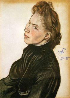 The Athenaeum - Portrait of Helena Propper-Bornet (Stanislaw Wyspianski - )
