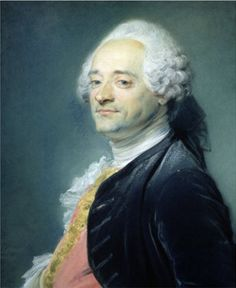 This is the portrait made by Jean-Baptiste Perronneau that he exhibited in the Salon 1750. Perronneau exhibited his pastel portrait of Maurice-Quentin de la Tour, but found to his dismay that La Tour was exhibiting his own self portrait, perhaps a malicious confrontation to demonstrate his superiority in pastel technique.