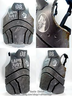 Second version of the NCR body armor from New Vegas. Changed the pattern to better reflect the game and fit better. Has adjustable straps on the back to get a custom fit. The plates are made from 1...