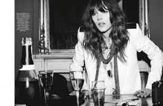 Freja Beha Erichsen Plays a Photographer for Glamour France Shoot by Fred Meylan