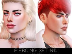 The sims resource: piercing set by pralinesims * sims 4 The Sims, Sims Cc, Sims 4 Piercings, Female Piercings, Skin Piercing, Sims 4 Cc Shoes, Sims 4 Cc Skin, Female Shorts, Sims 4 Update