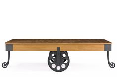 Baxton StudioLancashire Brown Wood & Metal Coffee Table | Affordable Modern Furniture in Chicago