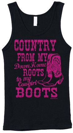 Blittzen Womens Stretch Rib Tank Down Home Roots To My Cowgirl Boots -- This is an Amazon Affiliate link. Find out more about the great product at the image link.