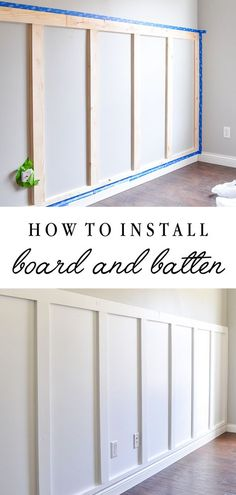 Simple Home Decor How to install board and batten the easy way! Full tutorial for this DIY with a huge impact! Home Decor How to install board and batten the easy way! Full tutorial for this DIY with a huge impact! Board And Batten, Home Hacks, Home Improvement Projects, Home Improvements, Diy Home Projects Easy, Easy Home Upgrades, Diy Home Decor Projects, Diy Home Crafts, Home Remodeling