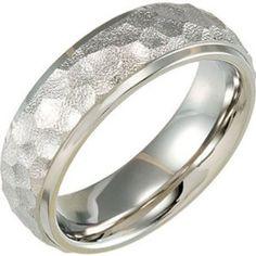 Amazon.com: Titanium, Hammered Finish Wedding Band (sz 6.5): Gembrooke: Jewelry