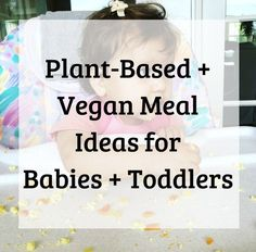 Plant-Based + Vegan Meal Ideas for Babies + Toddlers