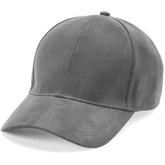 Women's Manhattan Accessories Co. Faux Suede Baseball Cap ($13) ❤ liked on Polyvore featuring accessories, hats, grey, gray brim hats, brimmed hat, grey brim hats, gray hat and gray baseball hat
